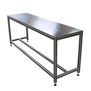 OEM workshop industrial aluminium workbench for factory electronic cleanroom work bench with wheels